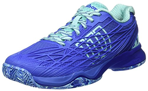 Wilson Damen Rush Pro 2.0 Clay Court Tennisschuhe Blau (Amparo Blue / Surf The Web / Aruba Blue)