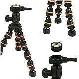 Eurosell Profi 18cm Mini Tisch Kamera Stativ - Ultra flexibel - für Canon / Nikon / Samsung / GoPro / Actioncam etc.
