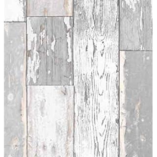 Klebefolie Holzdekor Möbelfolie Holz Scrapwood grau hell 90 cm x 200 cm Selbstklebefolie Dekorfolie