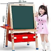 caja de almacenamiento pequeña pizarra andamios niños tablero de dibujo de caballete tableta magnética caras
