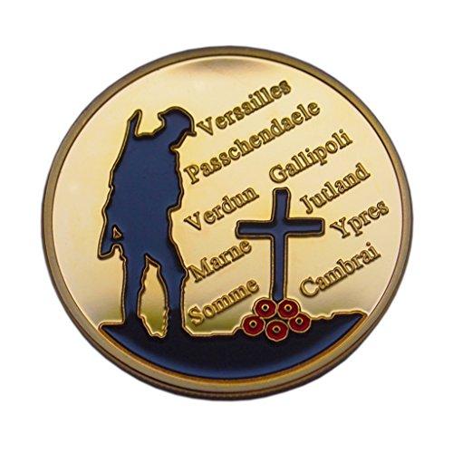 WELTKRIEG 1Memorial Gedenk Token 1914-18Somme Verdun Honor Remembrance großen Krieg Geschenk