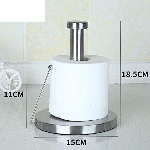 Freie Stehende Toilettenpapierhalter Für Badezimmer-brushed Edelstahl Und Chrom-A