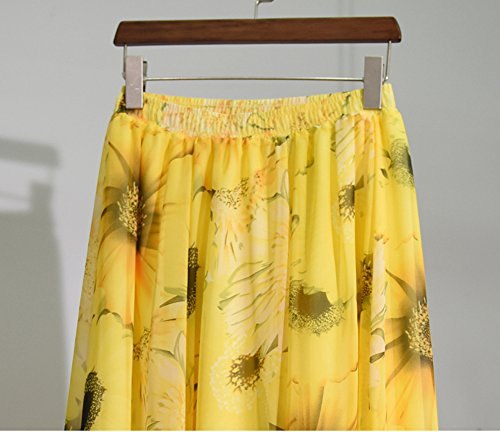 CoutureBridal® Damen Röcke Sommerröcke Faltenrock Chiffon 90CM Stil 3
