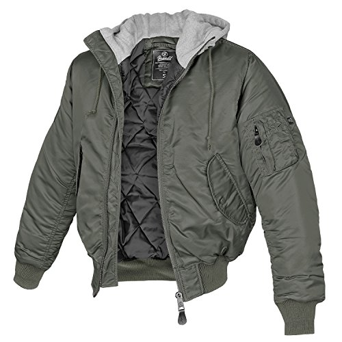 MA-1 Jacke Sweat Hooded anthrazit/grau - 3XL