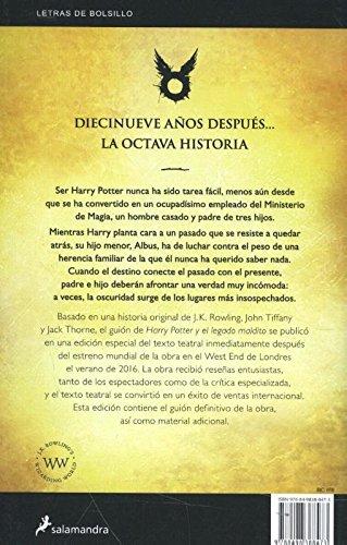 51sxFEFpkGL - Harry Potter y el legado maldito -LB-: 221 (Letras de Bolsillo)