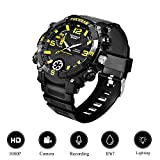 Jiyibidi 1080P Spy Camera Men Sports Watch with Mini Hidden Camera, LED Lighting