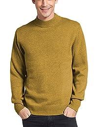 Parisbonbon Men's 100% Cashmere Mock Neck Sweater