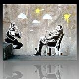 Bild auf Leinwand Banksy Graffiti Kunstdruck Street Art - Alf (Div. größen) (60x80cm)