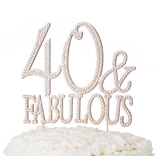 naufsatz, für 40. Geburtstag Party Supplies Dekoration 40 & Fabulous Rose Gold (Geburtstag Party-ideen Für Frauen)