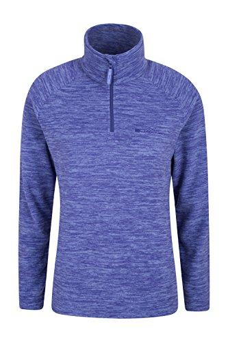 Mountain Warehouse Snowdon Fleecejacke für Damen - Pillingfrei, Leichter Sweater, halber Reißverschluss, atmungsaktiv, schnelltrocknend - Für Wandern, Reisen Marineblau DE 46 (EU 48)