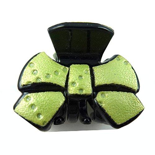 rougecaramel - Accessoires cheveux - Mini pince crabe cheveux fantaisie 2.5cm - vert