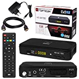 SATELLITEN SAT Receiver  HB DIGITAL DVB-S/S2 Set: Hochwertiger DVB-S/S2 Receiver + HDMI Kabel mit vergoldeten Anschlüssen (HD Ready HDTV HDMI SCART USB 2.0, Koaxial Ausgang, Opticum AX150)
