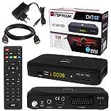 SATELLITEN SAT Receiver HB DIGITAL Set Hochwertiger DVB S S2 Receiver mit PVR Funktion Aufnahmef hig HDMI Kabel vergoldet (HD Ready HDTV HDMI SCART USB Koaxial Ausgang Opticum AX150 )
