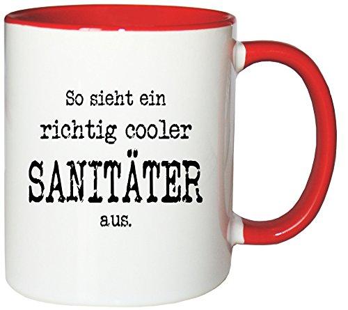 Mister Merchandise Kaffeetasse Becher So sieht ein richtig cooler Sanitäter aus. , verschiedene...