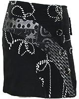 # 686 Damen Designer Patchwork Rock Schwarz Winter Rock 34 36 38 40