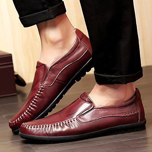 Doug Chaussures Correspondent Tous Pédale Paresseux Chaussures En Cuir Chaussures Tout Aller. Claret