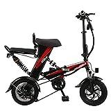 Wheel-hy Elektrofahrrad 12' Erwachsene E-Bike, 48V 15AH Abnehmbarer Akku, 48V 350W Heckmotor