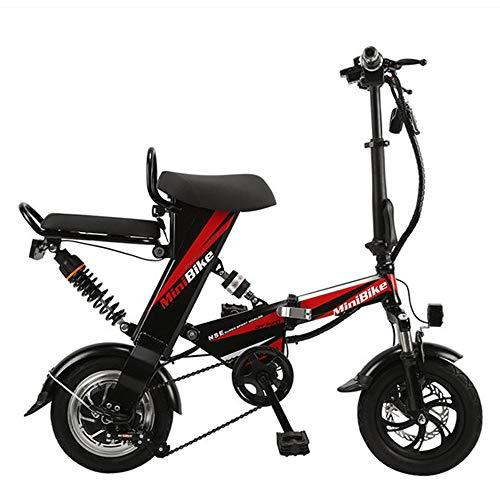Wheel-hy Bicicleta Eléctrica Plegable, 350W, Unisex Adulto, Batería 48V 15Ah, 12