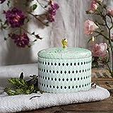 La Jolíe Muse Duftkerze Groß 400g 100% Sojawachs Weißer Tee Kerze in Dose 2 Dochte 80Std Muttertag Geschenk - 5