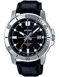 Casio Mtp-vd01l-1ev pour Homme Enticer en Acier Inoxydable Cadran Noir décontracté analogique Sportif Montre