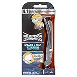 Wilkinson Sword Quattro Titanium Precision Rasierapparat + 1 Klinge