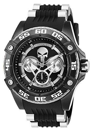 Invicta 27033 Marvel - Punisher Unisex Wrist Watch Stainless Steel Quartz Black Dial