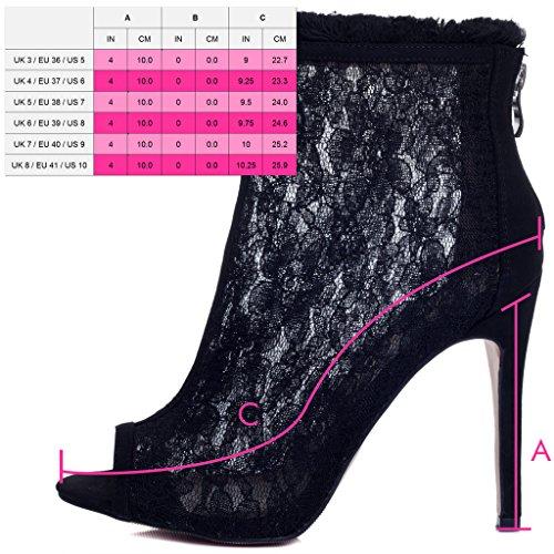 Tirette Bottines à Femmes Daim Simili SPYLOVEBUY Noir Talon Chaussures JESSICA Aiguille RwqP44px