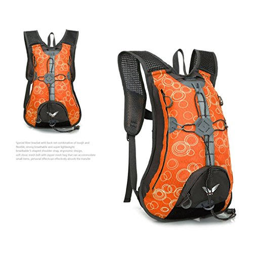Il nuovo zaino sella a una bicicletta MTB uomini e donne borsa zaino esterno borsa sportiva arancione