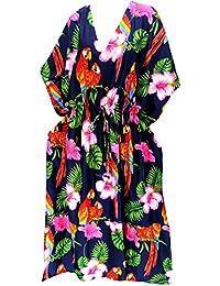 La Leela kimono ropa de playa traje de baño bikini traje de baño de las mujeres cubre para arriba el vestido flojo caftán
