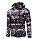 Soupliebe Männer Weihnachten gedruckt Herbst Winter Pullover Top Bluse Sweatshirt