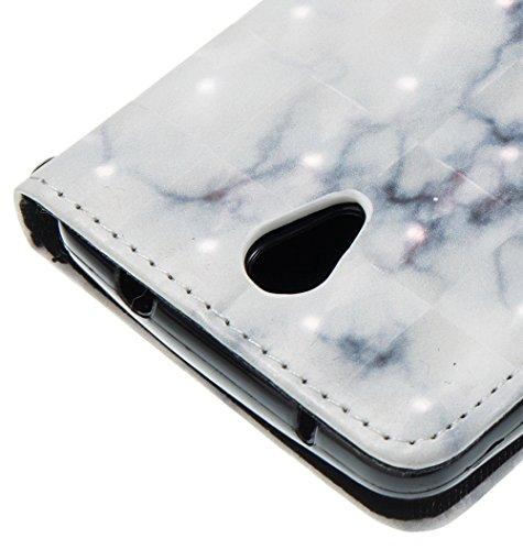Marmor Stein Grain Texure Muster PU Ledertasche Cover, Retro Bookstyle Flip Stand Case mit Magnetverschluss & Card Slots & Lanyard für ZTE N9132 ( Color : F ) E