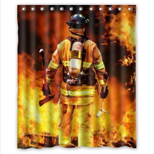 DIY NOW Vorhang Feuerwehr Design Wasserdicht Weihnachten Geschenk Duschvorhang 60 x 72 cm (X 60 Duschvorhang 72)