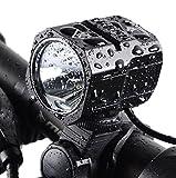 Nestling USB Rechargeable LED Bike Light Set, 1200 Lumen Bicycle Headlight Cree XM-L2