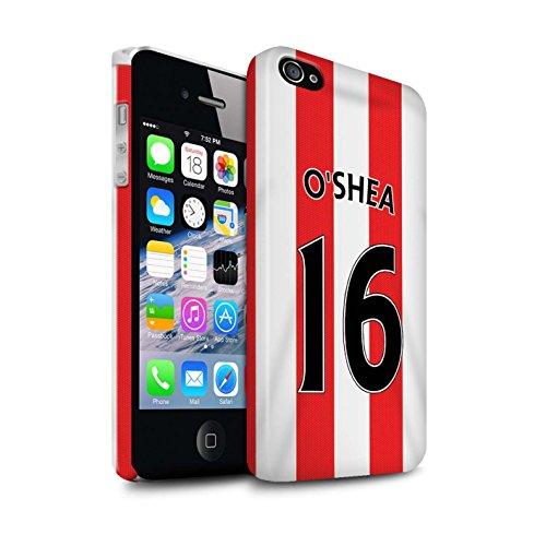 Offiziell Sunderland AFC Hülle / Glanz Snap-On Case für Apple iPhone 4/4S / Pack 24pcs Muster / SAFC Trikot Home 15/16 Kollektion O'Shea