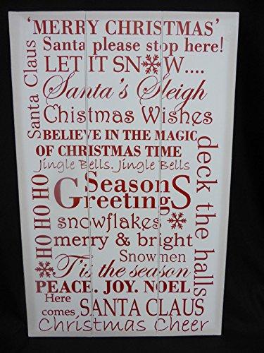 45cmx70cm Grand Blanc tenture de Noël de Noël de fête Plaque Inscription Décoration