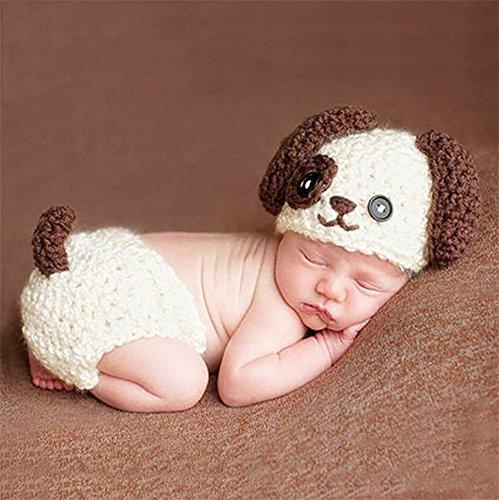 PEPEL Neugeborenen Fotografie Requisiten niedlichen Hund Handarbeit häkeln gestrickt Unisex Baby Gap Outfit Baby Gap Outfit