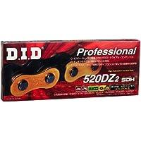 DID Cadena 520dz2, 112eslabones (estándar Oro), abierto con clip Candado