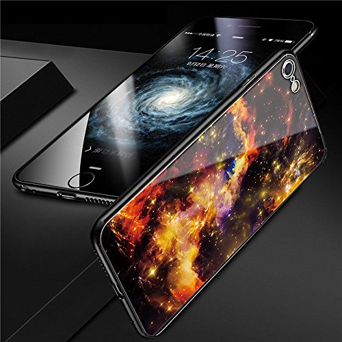 iphone 6 Tempered Glass Case,SUNWAY [Starry Sky][Scratch Resistant] 3 In 1 Ultra-Thin PC Hard Cover 360 Degree Protection Slim Case For Apple iphone 6 - Yellow