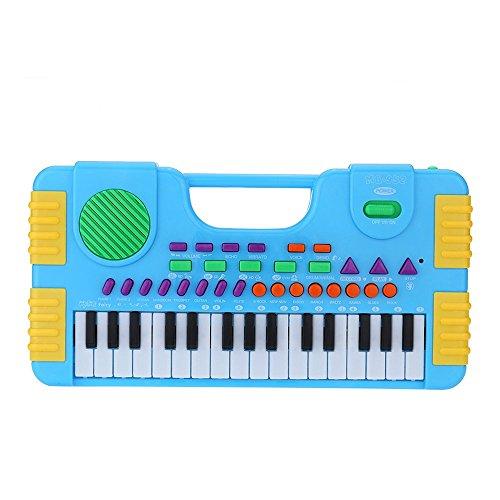 Andoer Mini-Keyboard für Kleinkinder und Anfänger,  mit Mikrofon, 31 Tasten, Cartoon-Look MQ952