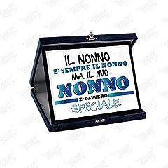 Idea Regalo - Altra Marca Targa Decorativa Personalizzata Li Hanno Chiamati Nonni Idea Regalo Targhetta in Alluminio con Stampa Personalizzabile per Festa dei Nonni (Bianco)