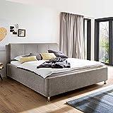 Komfortbett mit Bettkasten Beige Breite 157 cm Liegefläche 140x200 Pharao24