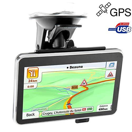 MKOKO 4,3-Zoll-TFT-Touchscreen-Auto-GPS-Navigator, integrierter Lautsprecher, integrierter 4-GB-Speicher und Karte, ohne Bluetooth, Auflösungen: 480 x 272 (Schwarz) Gute Qualität -