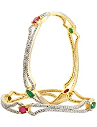 Silveria Golden Bangles For Women Bangle Set For Women