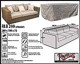RLB280straight Hülle für Lounge Bank, Rattan Gartensofa oder Lounge Sofa, 3 - 4 Personen. Schutzhüllen für Bank, Schutzhülle für Lounge Bänke, Abdeckhaube Schutzhülle Schutz-Plane für gartenbank