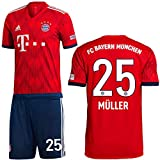 adidas FCB FC Bayern München Set Home Heimset 2018 2019 Kinder Müller 25 Gr 152
