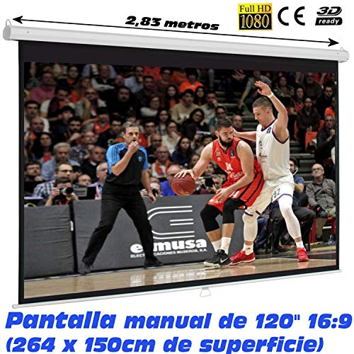 Pantalla de proyeccion Manual Luxscreen 120