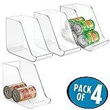 mDesign lot de boîtes de rangement pour aliments – lot de 4 – pour canettes et conserves – en plastique transparent et résistant – 27,94 cm x 13,97 cm x 21,59 cm – sans BPA