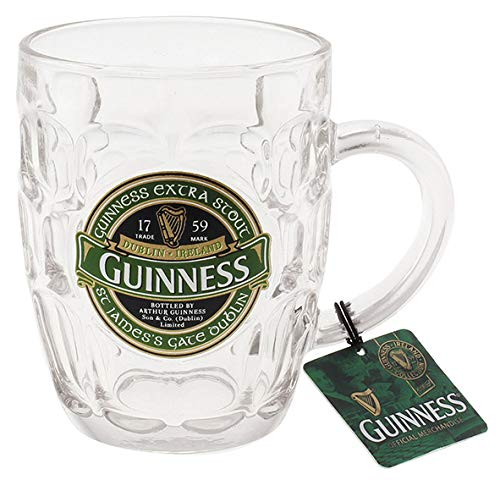 Guinness Ireland Collection - Dimpled Pint Tankard With Metal Badge - Guinness-bier Etikett