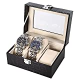 #4: ShopAIS 3 Slot Watch box PU Leather Organizer (Assorted Color Will Be Send)