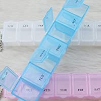 BESTOMZ 2pcs 7 Tage Tablettenbox Pillendose Medikamentenbox Tablettendose Dosierer Pillen Box (weiß) preisvergleich bei billige-tabletten.eu